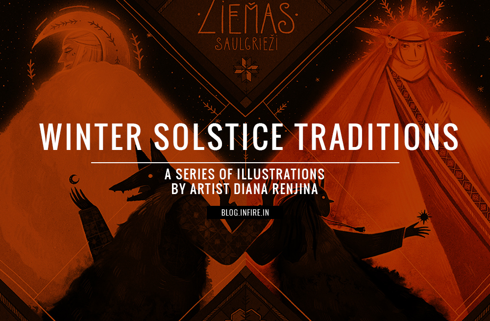 Winter Solstice Traditions A Series of Illustrations by Artist Diana Renjina