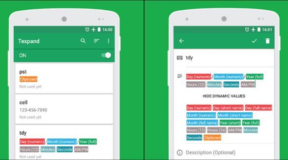 تطبيق Texpand لإنشاء اختصارات للعبارات الأكثر استخداماً على أجهزة أندرويد
