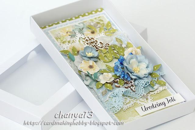 urodzinowa kartka w pudełku