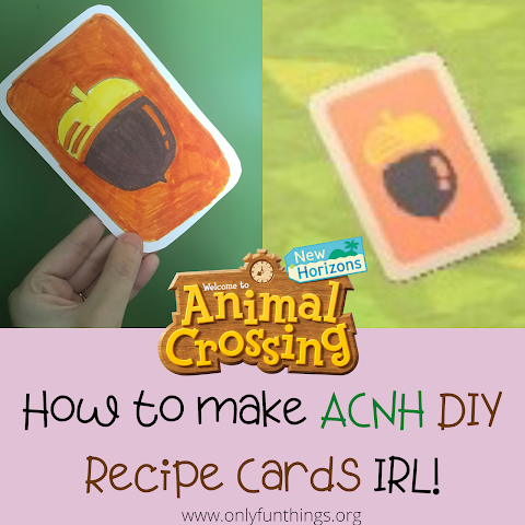 How to Make Animal Crossing New Horizons DIY Recipe Cards IRL!