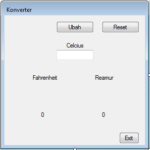 7 - Konversi Suhu(Visual Studio 2012)