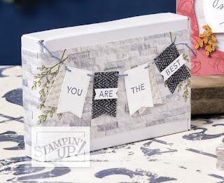 Stampin' Up! Tasteful Touches (In Good Taste) Mini Paper Pumpkin Box