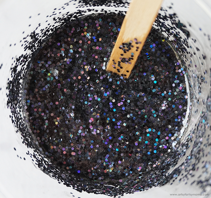 Black Resin Glitter Mixture