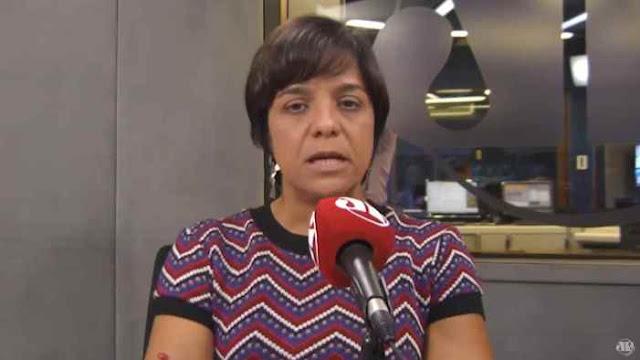 """A colunista Vera Magalhães participa do programa """"3em1"""", no estúdio da Jovem Pan, em São Paulo. (Foto: Reprodução / redes sociais)"""