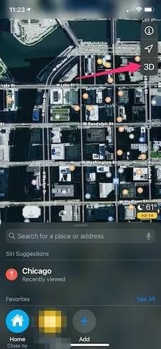تخصيص عرض خرائط Apple ثلاثي الأبعاد