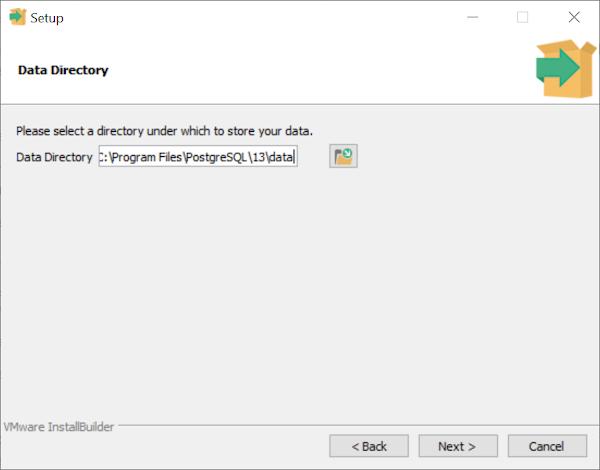 PostgreSQL data directory