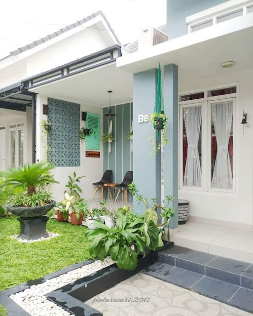 Contoh Desain Teras Rumah Minimalis Tipe  Contoh Desain Teras Rumah Minimalis Tipe 36 45 60 Sederhana