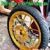 Sơn mâm màu vàng candy cực đẹp cực nổi cho xe máy