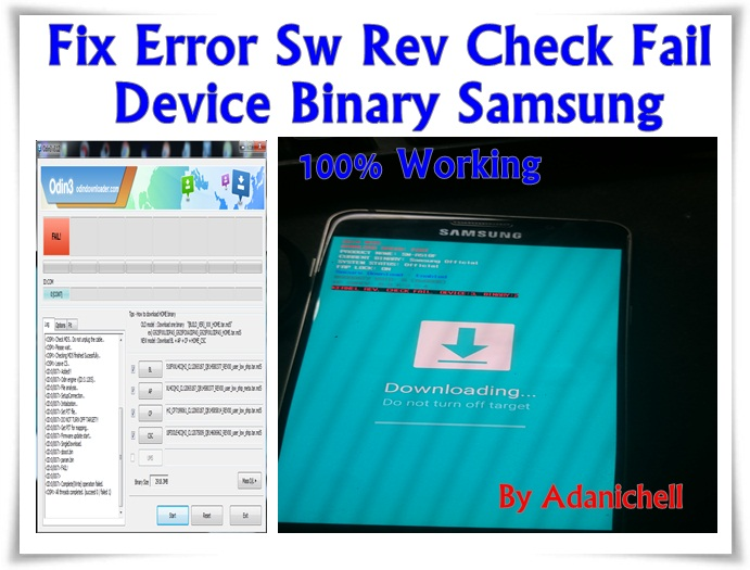 Cara Mengatasi Sw Rev Check Fail Device Binary Samsung - Drive Firmware