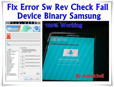 Sw Rev Check Fail Device Binary Samsung