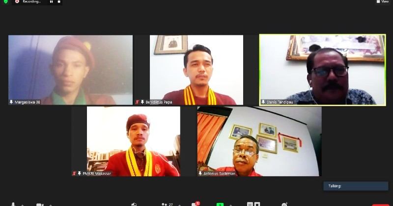 Webinar PMKRI Makassar: Penguatan Nilai Kebinekaan Indonesia di Tengah Kadaruratan Intoleransi