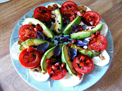 Avocado Caprese Salad, beautiful and delicious!