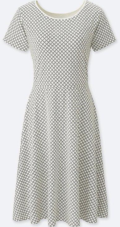 75758c24c6 2) Uniqlo Geometric-Print Short-Sleeve Bra Dress - In Summer I adore Uniqlo s  bra dresses. A full support bra is built-in for comfort.