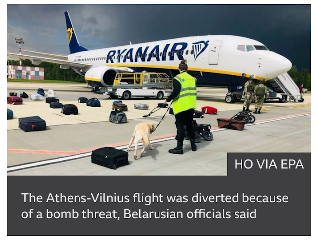 Many European airlines quit flying over Belarus after a journalist was arrested