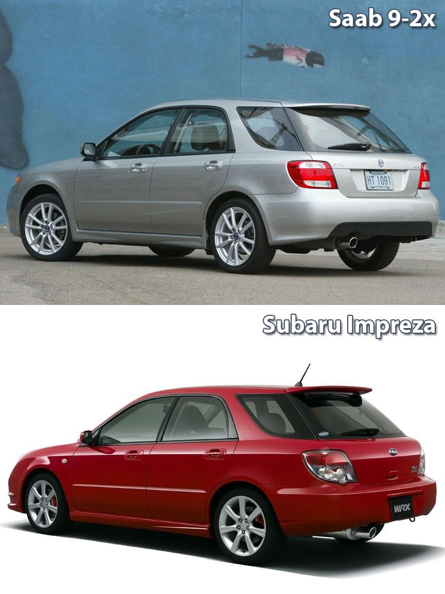 Saab 9 2x Vs Subaru Impreza Tył