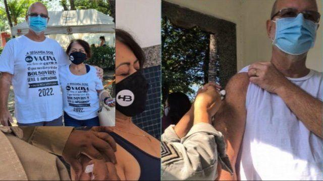 Casal do Rio relata que foram proibidos de vacinar enquanto vestisse camisa contra Bolsonaro
