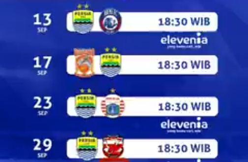 Jadwal Persib Bandung September 2018