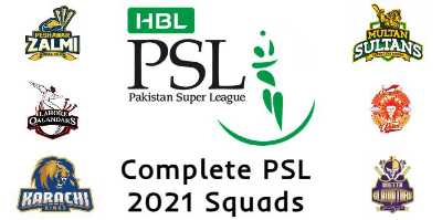 Complete PSL 2021 Squads | PSL 6 All Teams Squads 2021