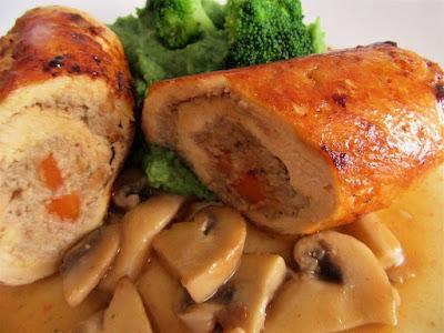 Pileći rolat sa šampinjonima / Chicken roll with champignons