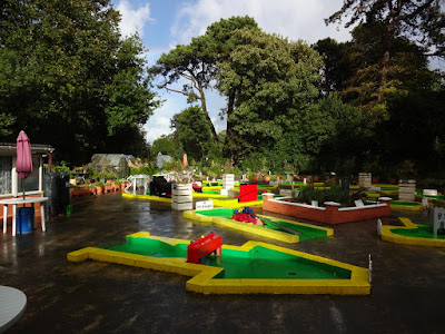 Crazy Golf course at Rylstone Tea Gardens on the Isle of Wight