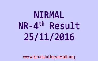NIRMAL NR 4 Lottery Results 25-11-2016