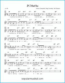 chord if i had you lagu jazz standar