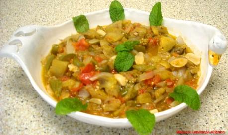 Lebanese Moussaka – Sauteed Eggplant – Musakka3at Batinjan
