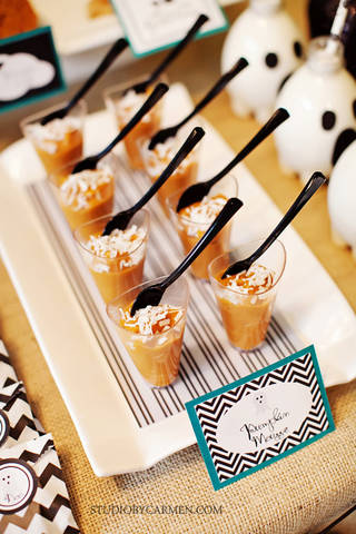 Kara S Party Ideas Elegant Halloween Party Dessert Table