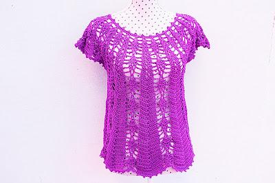 Blusa con piñas Majovel crochet 2