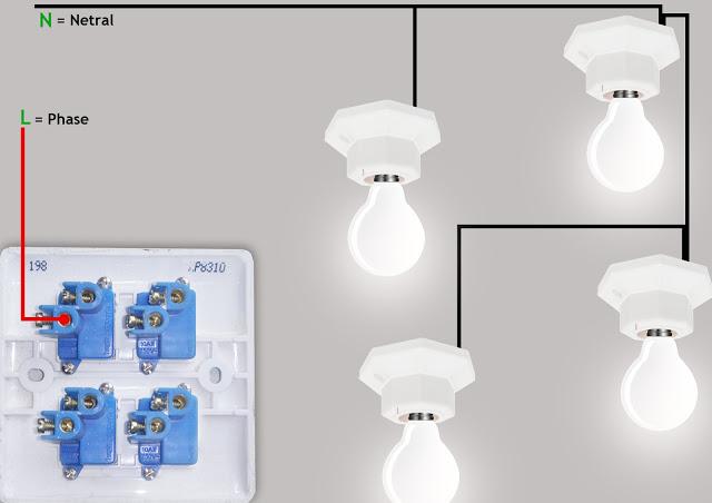 Wiring diagram saklar 4 gang atau multi switch
