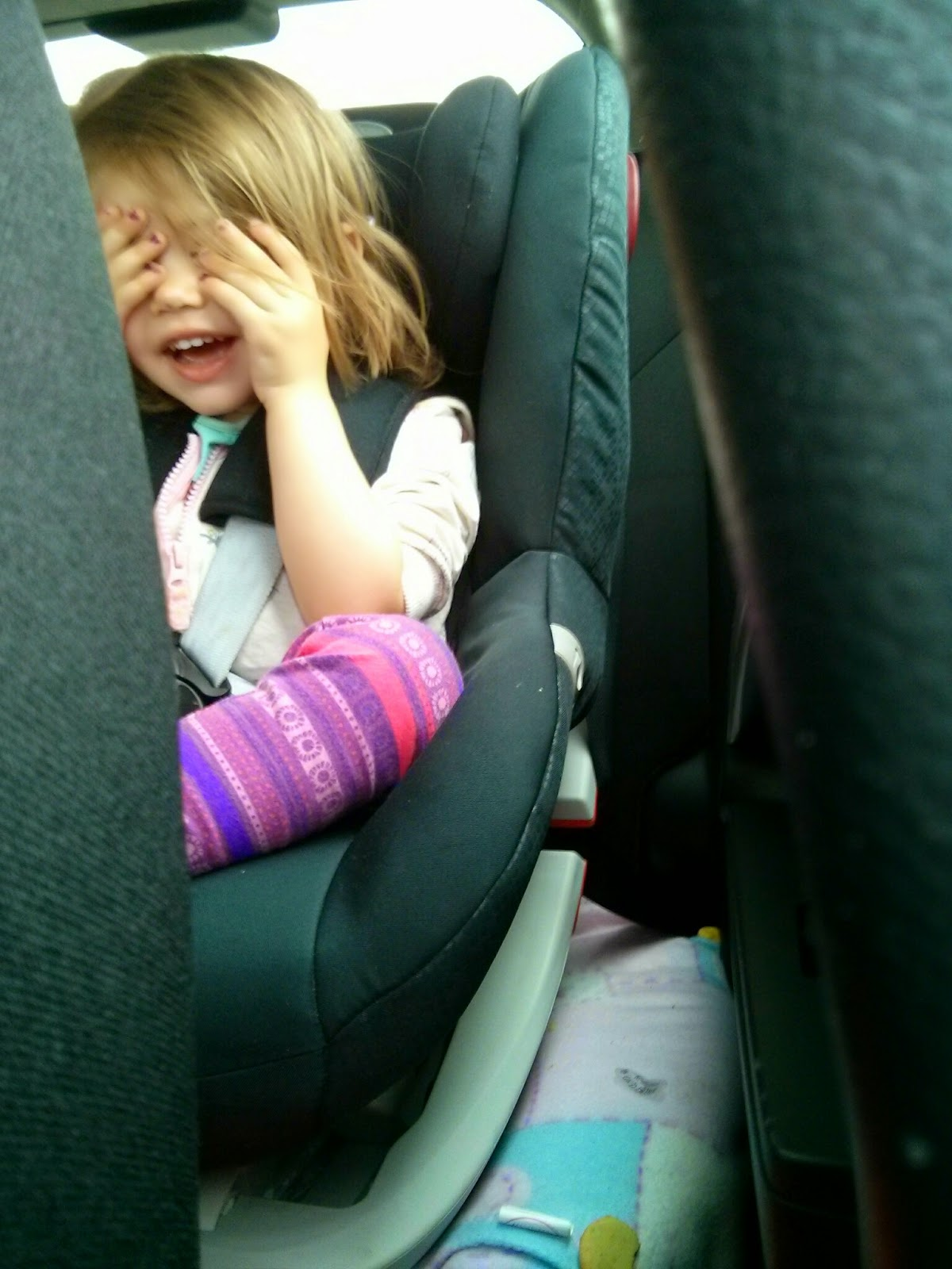 Hiding in Britax Car seat