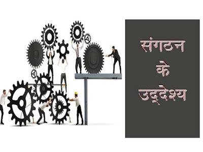 संगठन के उद्देश्य को समझाइये | संगठन के उद्देश्य का वर्णन |Purpose of the Organization in Hindi