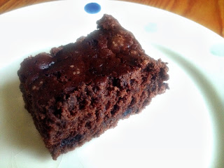 Fudgy Vegan Chocolate Blueberry Brownie