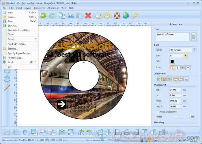 ronyasoft cd dvd label maker full version free download