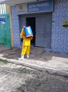 ACEs realizam desinfecção de repartições em Nova Palmeira
