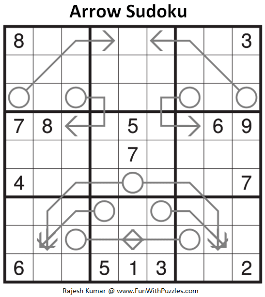 Arrow Sudoku Puzzle (Fun With Sudoku #274)