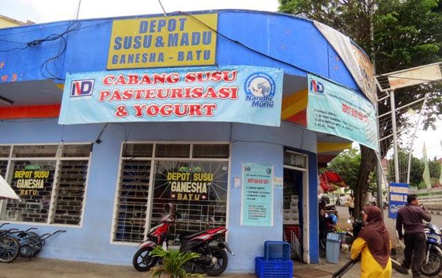Depot susu sapi Ganesha di Batu Malang