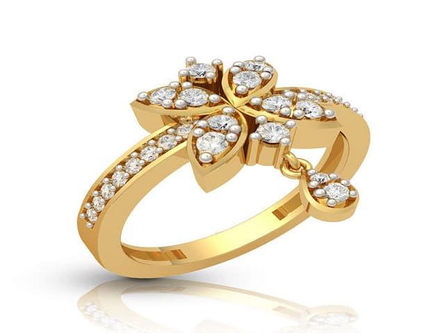 خواتم ذهب رقيقه جدا 12 | Simple gold rings 12