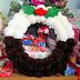 DIY Christmas Pudding Pom Pom Wreath