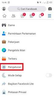 Cara Melihat Daftar Blokiran Di FB Lite Android