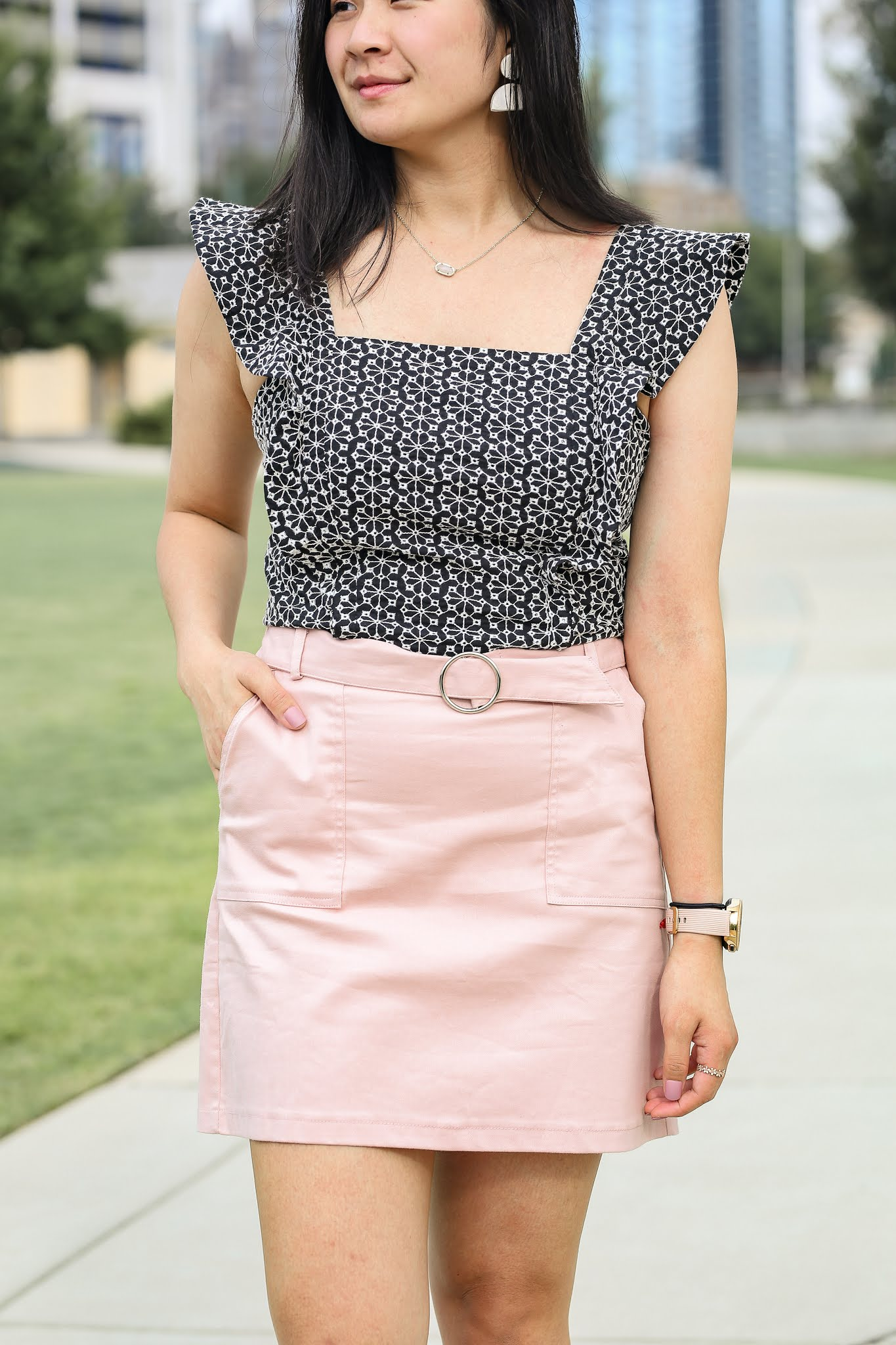Black and White Crop Top - Wal-Mart