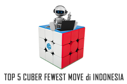 top fewest moves rubik athletes indonesia