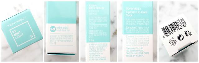 Mint lip balm packaging