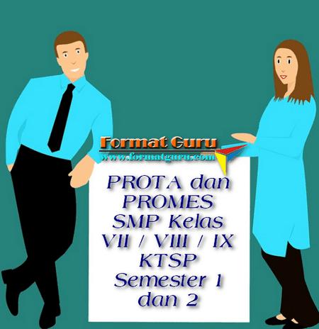 PROTA dan PROMES SMP Kelas VII / VIII / IX KTSP Semester 1 dan 2