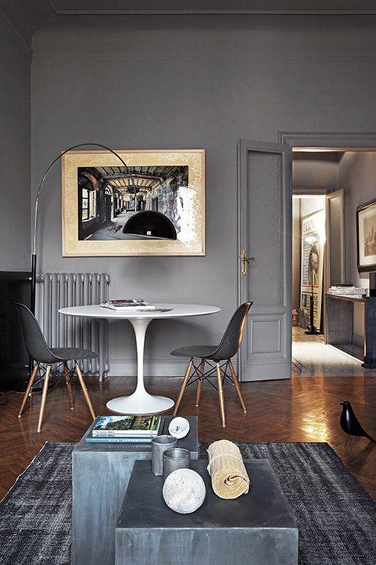 Atreverse con el color gris oscuro en las paredes etxekodeco for Color gris verdoso paredes