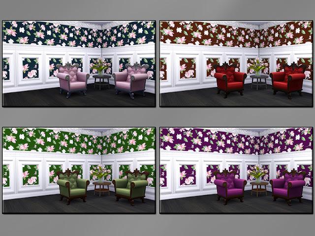 дизайн для дома для The Sims 4, стены комбинированные для The Sims 4, обои м панелями для The Sims 4, дизайн стен для The Sims 4, покрытие для стен для The Sims 4, оформление стен для The Sims 4, цветы для The Sims 4, для стен для The Sims 4, строительство для The Sims 4, строительные материалы для The Sims 4, моды для The Sims 4, The Sims 4, стены с панелями для The Sims 4,