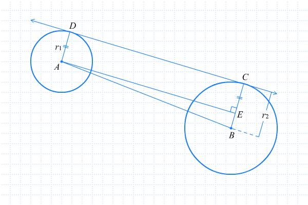 Rumus garis singgung persekutuan dalam dan garis singgung garis dc di atas merupakan garis singgung persekutuan luar dari lingkaran a dan lingkaran b apabila ruas garis dc digeser ke bawah sejauh ce sedemikian ccuart Choice Image