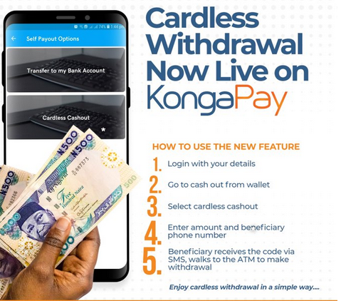Konga Launch Cardless Withdrawal and USSD Services
