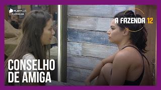 A Fazenda 12 –  Stéfani conversa com Raissa – Luiza dá início à reunião