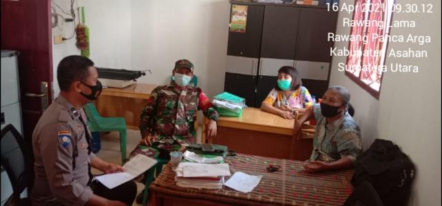 Jalin Silaturahmi Bersama Perangkat Desa, Personel Jajaran Kodim 0208/Asahan Laksanakan Komunikasi Sosial Diwilayah Binaan